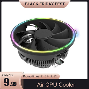 Image 1 - Darkflash cpu空気クーラー 3Pinラジエーターrgb 120 ミリメートルクーラーcpu冷却コンピュータケースlga 1366/1156/1155/1150 AM4/AM3