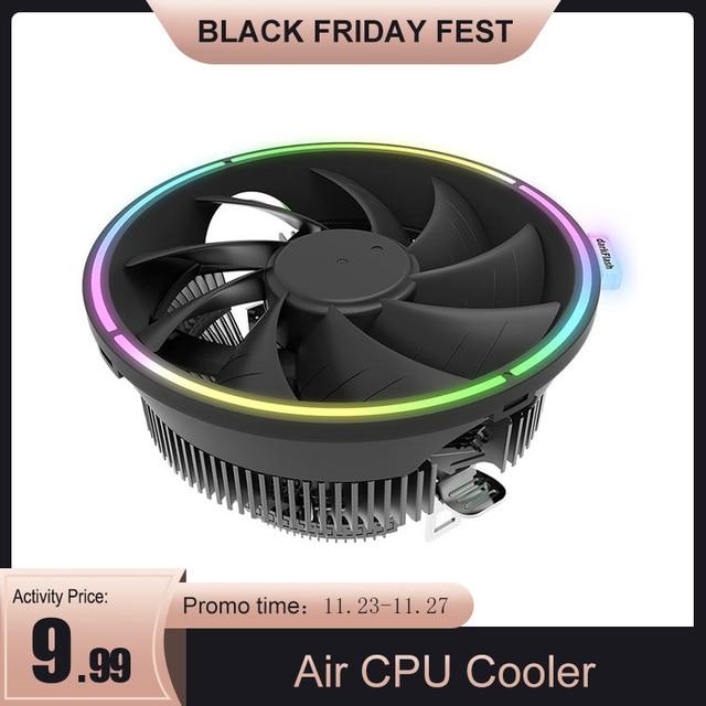 Darkflash cpu空気クーラー 3Pinラジエーターrgb 120 ミリメートルクーラーcpu冷却コンピュータケースlga 1366/1156/1155/1150 AM4/AM3