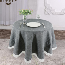 Lace Tablecloth Kitchen-Decor Coffee Wedding Linen Round Party Nordic Tea Home Imitate