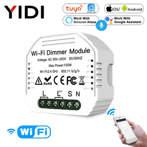 1/2 way wi fi inteligente dimmer interruptor disjuntor módulo sem fio tuya app controle de voz parede luz dimmers alexa google casa