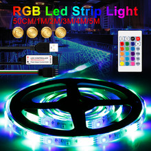 5V listwa oświetleniowa USB wstążka lampa RGB LED elastyczne oświetlenie pilot zdalnego sterowania jaśniejsze listwy RGB LED lampa 0.5 1 2 3 4 5m taśma diodowa