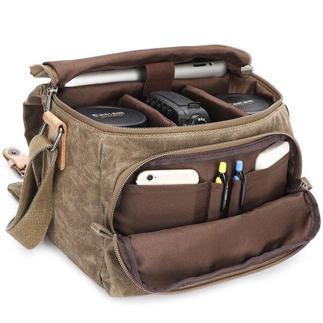Vintage قماش التصوير حقيبة الكتف الرافعة SLR كاميرا حمل حقيبة سفر صغيرة عادية رسول حقائب Nikon سوني كانون