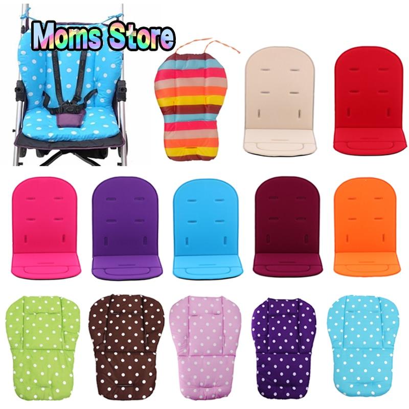 Baby Stroller Seat Cushion Pushchair High Chair Pram Car Colorful Soft Mattresses Seat Pad Stroller Mat Liner Accessories