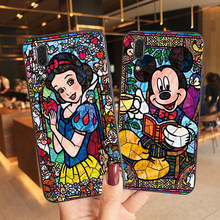 Disneys Case For Huawei P20 Pro P40 P30 Lite Funda Rock Mickey Minnie Stitch Princess Phone Cases New Soft TPU Back Cover Coque(China)