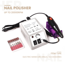 Professional Electric Nail Drill Manicure Machine with Drills 6 Bits Pedicure Nail art pen File Manicure polishing tool grinder