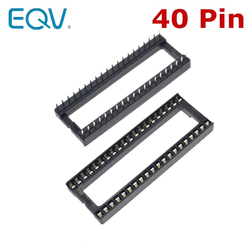 10PCS 40 Pin DIP Square Hole IC Sockets Adapter 40Pin Pitch 2.54mm Connector