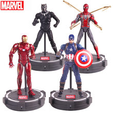 Vingadores Marvel Thanos Endgame Spiderman Hulk Buster Máquina de Guerra Homem De Ferro Capitão América Thor Action Figure Toy Para Presente Do Menino(China)