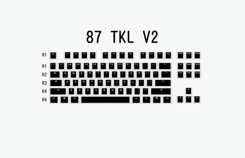 布丁V2-黑白-87 TKL