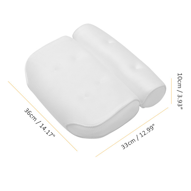 Breathable 3D Mesh Spa Bath Pillow with Suction Cups Neck and Back Support Spa Pillow for Home Hot Tub Bathroom Accessories 4