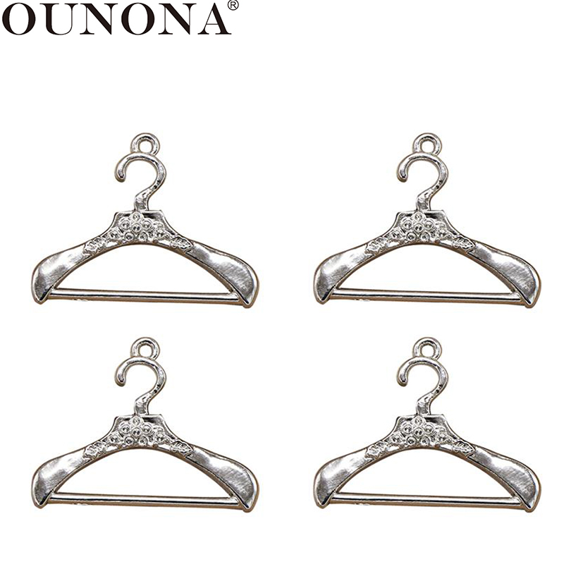 OUNONA 20pcs Alloy Pendant Delicate Antique Silver Coat Hanger DIY Jewelry Making Accessories Charms For Craft Bracelet Necklace