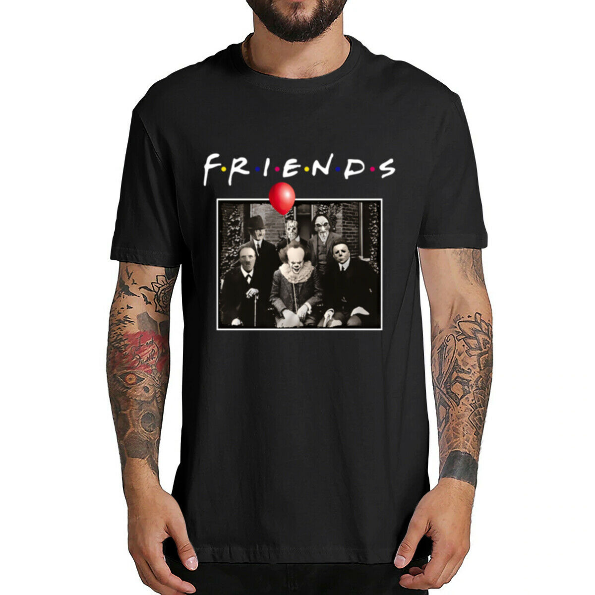 Horror Freunde Pennywise Michael Myers Jason Voorhees Halloween Männer T-Shirt Top baumwolle kurzarm T Hemd Camiseta masculina