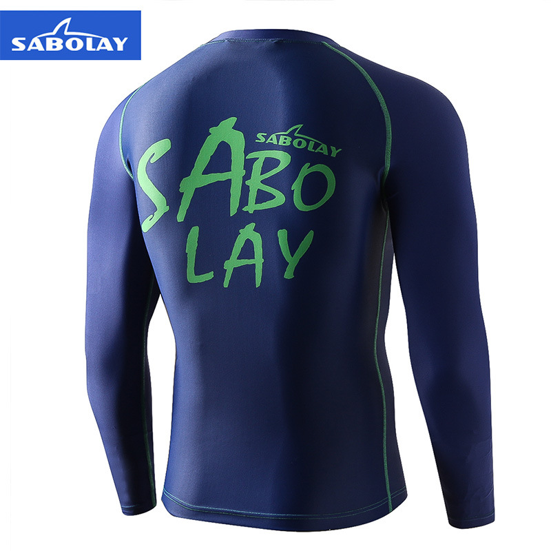 Sabolay Men Sexy Swimwear Swimming Trunks Set Large Size Diving Suit Beach Sun-resistant Jellyfish Clothes Ny017