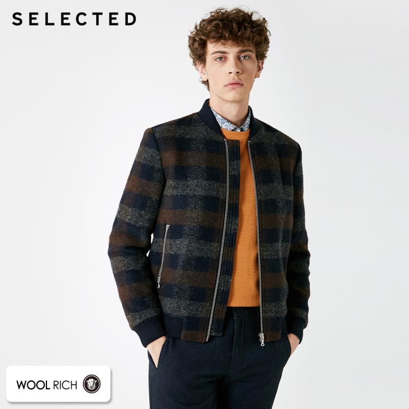 GESELECTEERDE Nieuwe wol blend plaid casual heren jas S  418427550-in Wol en mengsels van Mannenkleding op  Groep 1