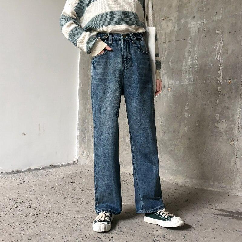 2019 Autumn Clothing Large Size Dress Large GIRL'S Jeans Women's Loose-Fit 200 Of Fat Mm Capri Pants