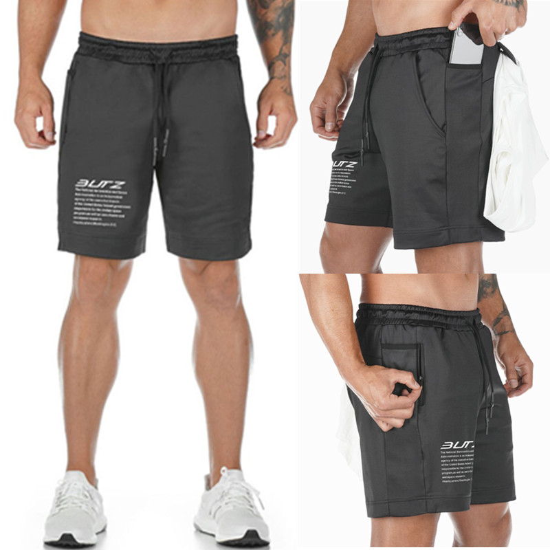 New 2019 Summer Mens Fitness Bodybuilding Breathable Quick Drying Short Gyms Men Casual Joggers Knee Length Shorts Wholesale