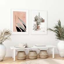 Современный тропический кактус растительный плакат hd печать