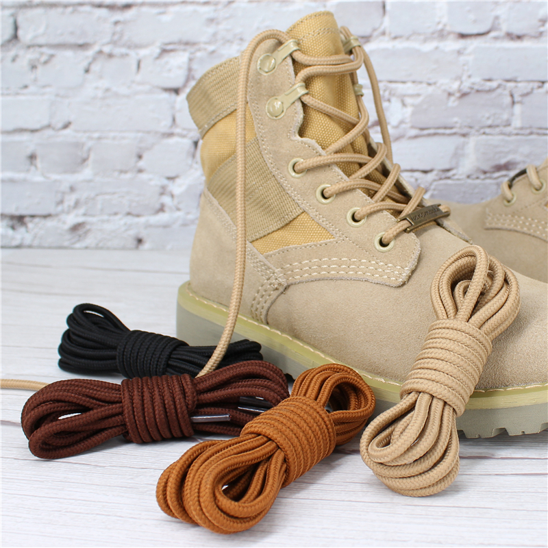 1Pair Round Shoelaces Polyester Solid Classic Martin Boot Shoelace Casual Sports Boots Shoelaces Sneakers Shoes Lace 21 Colors