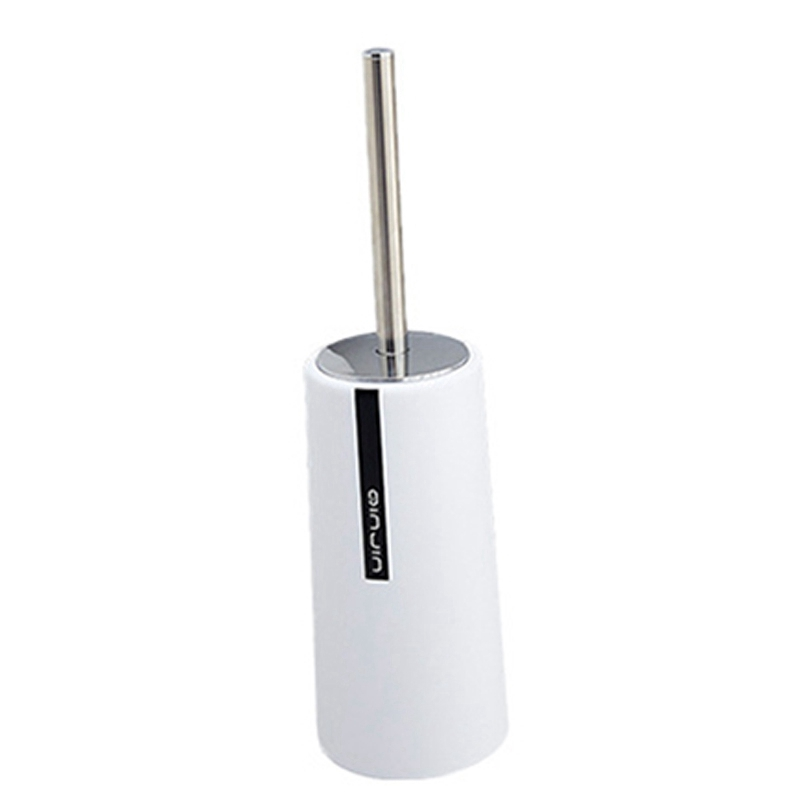 Plain Toilet Brush Set Bathroom Cleaning Brush Long Handle Toilet Brush Toilet Toilet Brush White
