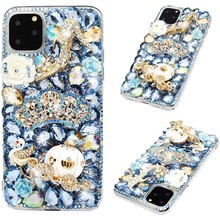 Luxury Gold 3D Purse Bling Crystal Cinderella Carriage Cases for Huawei Honor 10 20 Lite Pro 10i 8A 8X 9X P Smart Y9 Prime 2019
