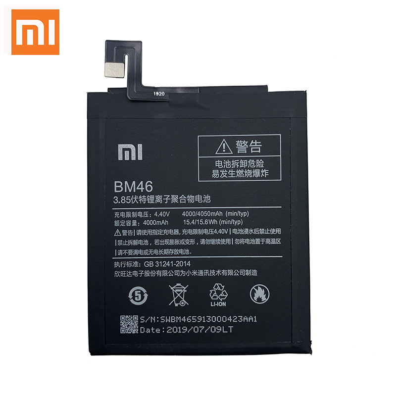 Xiao Mi 100% Original BM46 Battery For Xiaomi Redmi Note 3 Note3 Pro Prime Batterie 4000mAh Real Capacity Rechargeable Batteria image