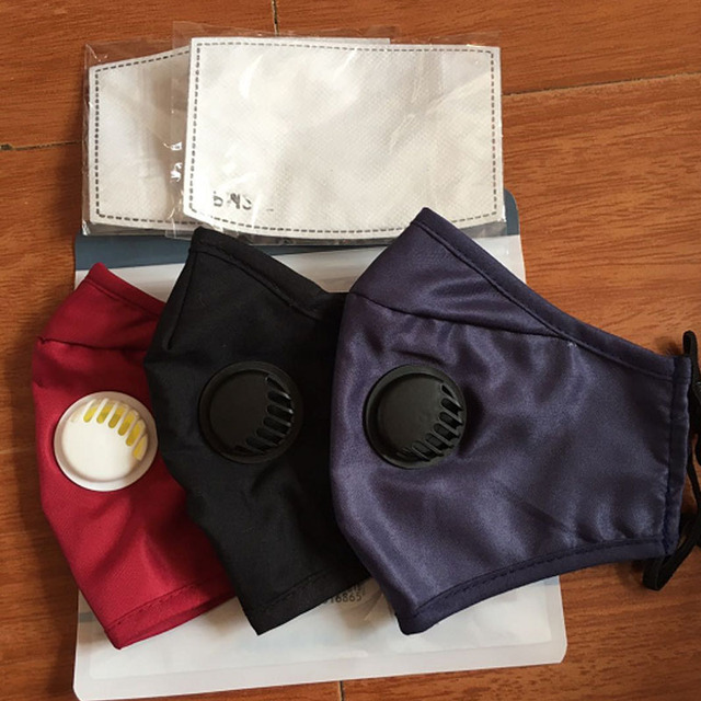 Women Men Facemask Cotton PM2.5 Black Mouth Mask Anti Dust Activated Carbon Filter Bacteria Proof Flu Face Masks Care Gasmask 5