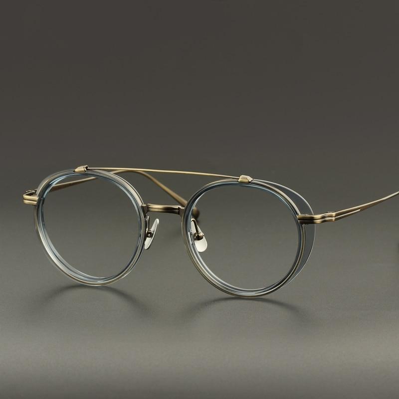 Titanium Vintage Round Glasses Frame Men Women Retro Clear Optical Eyeglasses Myopia Prescription Spectacle Frames Eyewear Gafas