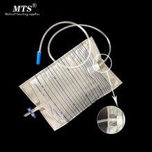 2000ml Autoclave Sterilized Medical Urology Bag Cross Valve drainage Urine bag Teaching Homehealth care or hospital use