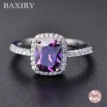 Fine Engagement Ruby Ring 925 Sterling Silver Rings Amethyst Gemstone Emerald Blue Sapphire 2019 New For Women