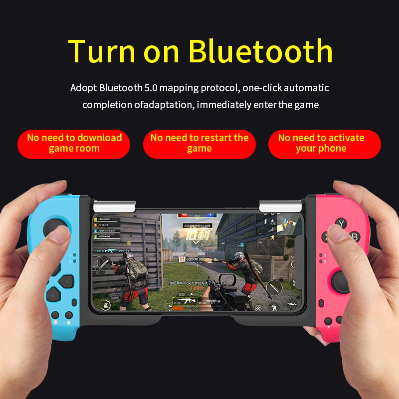 Bluetooth Gamepad One-handed Stretchable Gaming Joystick Wireless Game Controller for iOS Android Mobile Phone Bluetooth TV 2020