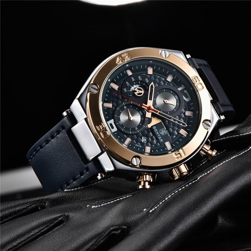 Image 4 - BENYAR 2019 New quartz men's watches Multifunction sport chronograph watch men top luxury brand wrist watch Relogio Masculino-in Quartz Watches from Watches
