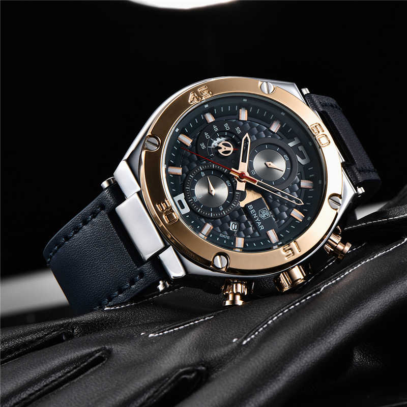 BENYAR 2019 New quartz men's watches Multifunction sport chronograph watch men top luxury brand wrist watch Relogio Masculino