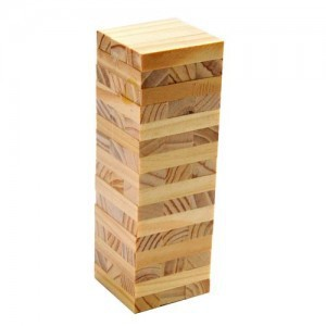 Children Wooden-Boutique Small Wood Color Bricks Pro Building Blocks/Jenga