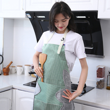 Super thick wear-resistant handmade kitchen apron female waterproof and oil-proof sleeveless overalls cooking can wipe hands