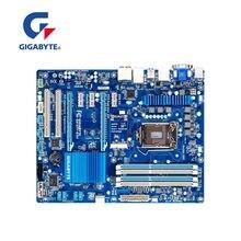 Материнская плата для GIGABYTE, DDR3 LGA 1155 rev 1.x, USB 3,0 SATA III, для ПК с процессором Intel Z77, б/у