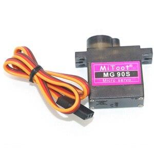 Image 5 - 4 teile/los Mitoot MG90S 9g Metall Getriebe Verbesserte SG90 Digital Micro Servos für Smart Fahrzeug Hubschrauber Boart Auto