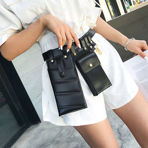 Image 3 - New Pu Leather Fanny Pack Waist Bag Belts for Woman Shoulder Bag Mobile phone Packs Chest  Female Purse Crossbody Bag