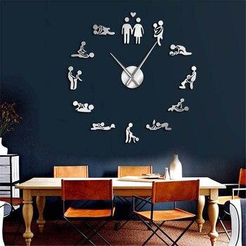 DIY Giant Wall Clock Woodland Deer Hunter Modern Deer Antler Wall Clock Acrylic Mirror Effect Animals Home Decorations 1