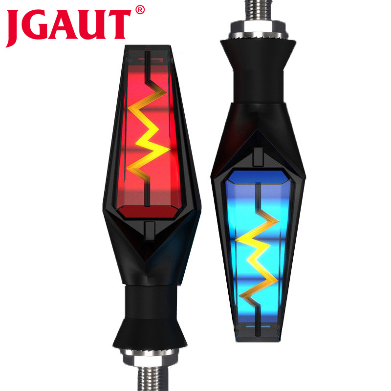 JGAUT 1Pair Universal Motorcycle Turn Signal Light Motorbike Led Indicator DRL Brake Flash For Honda Yamaha Kawasaki Suzuki