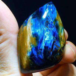 Image 2 - Certificate Natural Blue Pietersite Pendant 47.6/30.4/11.3mm Water Drop Chatoyant Healing Gemstone Women Stone Necklace AAAAA