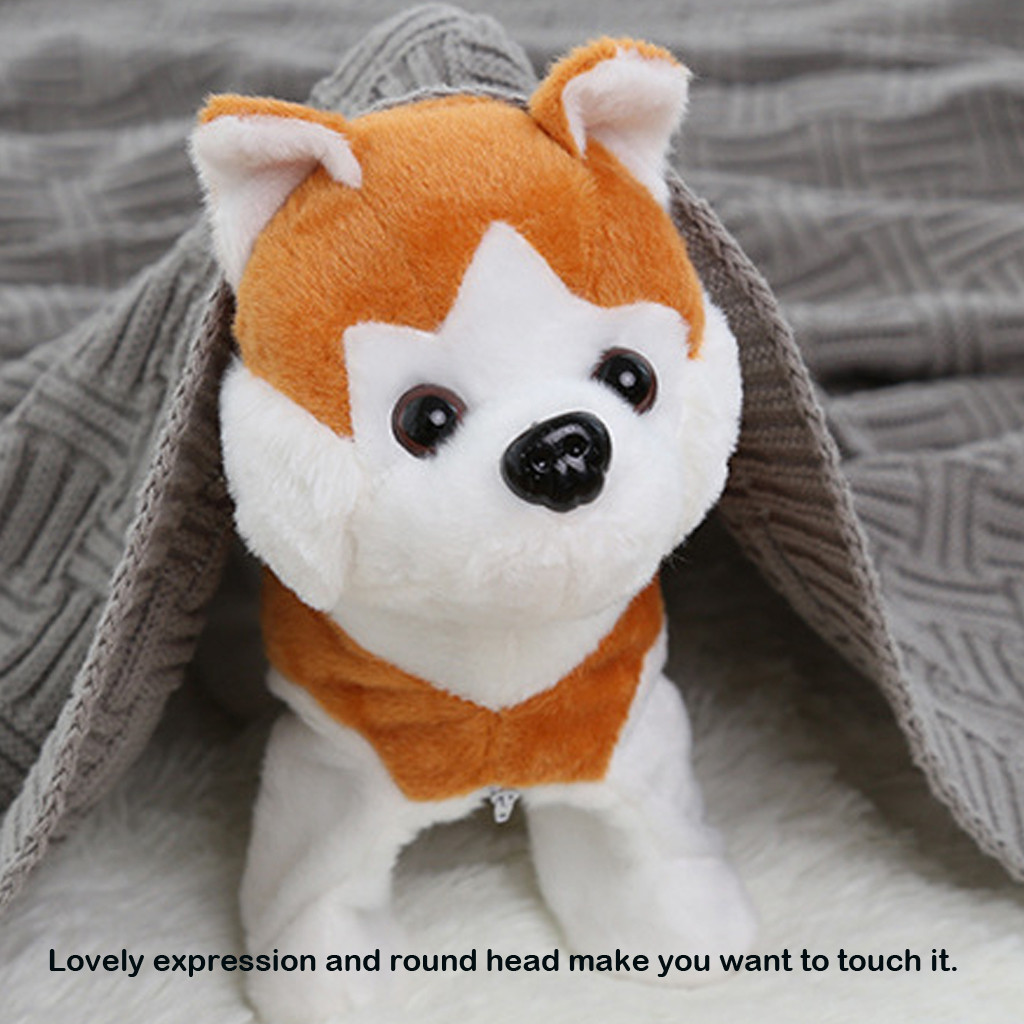 Electrical Walking Dog Plush Toys Battery Powered Stuffed Animal Kids Xmas Toy The Best Present For Kids Jouets électriques#2