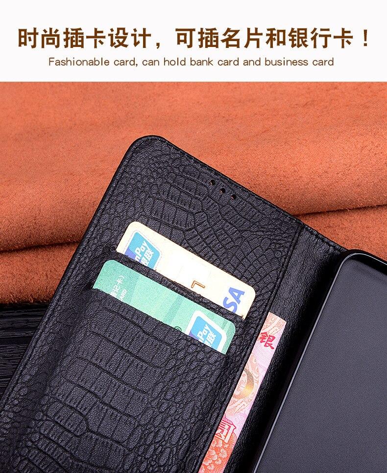 Quente de luxo couro genuíno telefone capa