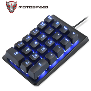 Image 1 - New Portable MOTOSPEED K22 Mechanical Numeric Keypad Wired 22 Keys Mini Numpad Backlight keyboard Laptop PC Notebook Desktop