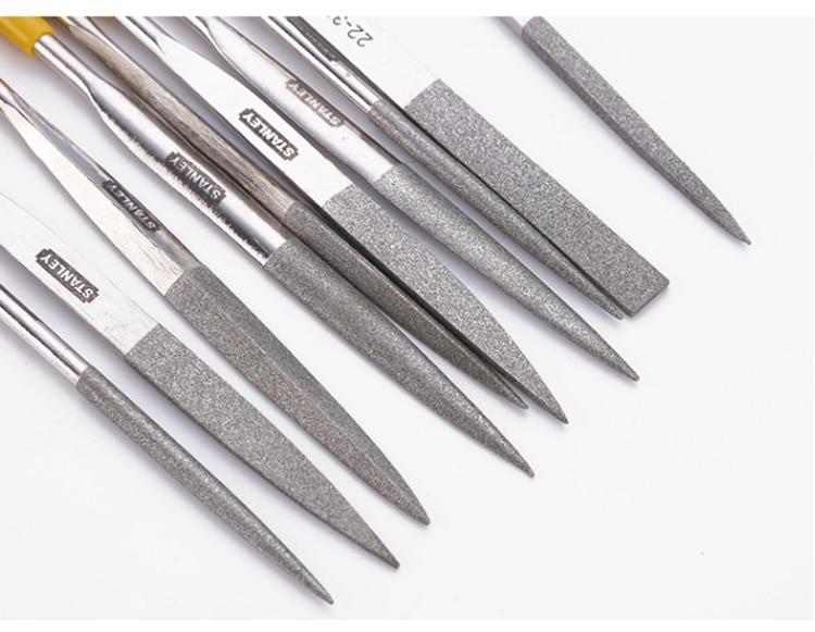 5Pcs 140mm Flat Needle Files Ultra-thin Diamond Coated Polishing Tool Wood Glass