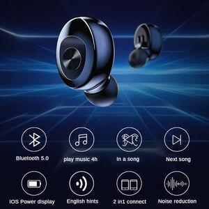 Image 3 - XG12 TWS Bluetooth 5.0 kulaklık Stereo kablosuz kulakiçi HIFI ses spor kulaklık Handsfree oyun mikrofonlu kulaklık telefon için
