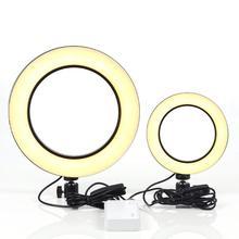 Tryby LED 3 5500K możliwość przyciemniania kamera studyjna lampa pierścieniowa przenośne Studio fotograficzne Selfie wypełnij światło dla Podcast Live Video Video Chat tanie tanio centechia Inne 3200-5500K White Light Warm Light(Yellow) Soft Light(White Yellow Mixed) USB Fill-in Light Ring With Controller