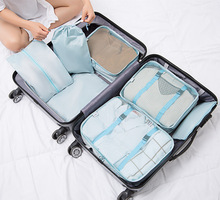 7PCs/Set Travel Storage Bag Waterproof Storage Case Wardrobe Suitcase Pouch Clothes Laundry Luggage Organizer Portable Container цена и фото