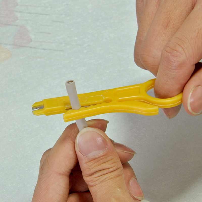 Mini Saku Portabel Kawat Stripper Pisau Tang Crimper Crimping Alat Pengupasan Kabel Kawat Cutter Crimpatrice Alat Parts
