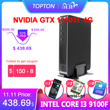 Super Mini Gaming Pc Intel Core I9 9900 I7 9700F I5 9400F Gpu GTX1050TI 4G Windows 10 Pro Nuc Computer Nvme 2 * HDMI2.0 Dp Ac Wifi
