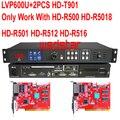 LVP600U + 2 шт. HUIDU T901 USB поддержка JPG/mp4 светодиодный видеопроцессор вход USB/HDMI/DVI/VGA/CVBS поддержка P3.91 P5 светодиодный экран дисплея