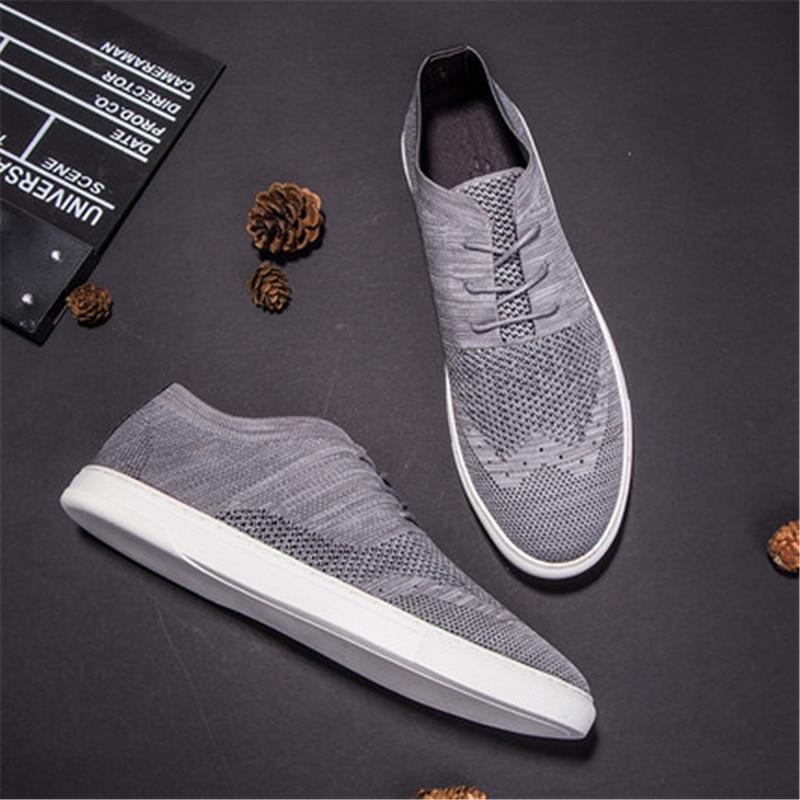 Flyweaver обувь мужская Британский стиль дышащий повседневная обувь с трендовой сетчатой панелью обувь - 4